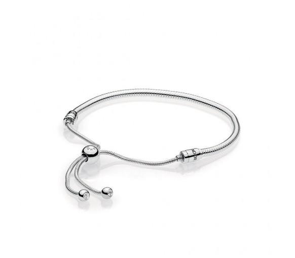 Pandora Moments Silver Sliding Armband - 597125CZ-2