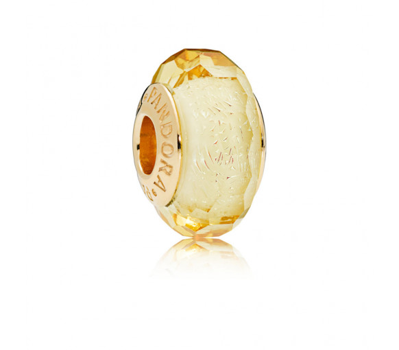 Pandora Shine Golden Murano Glass Charm - 767647