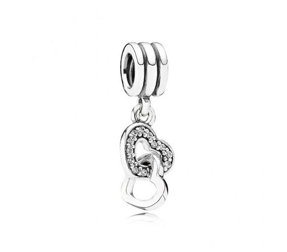 Pandora Verschlungene Herzen Charm - 791242CZ