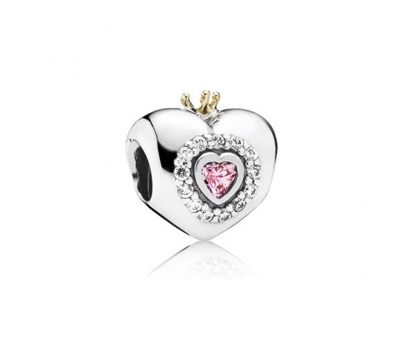 Pandora Rosafarbenes Prinzessinnenherz Charm - 791375PCZ