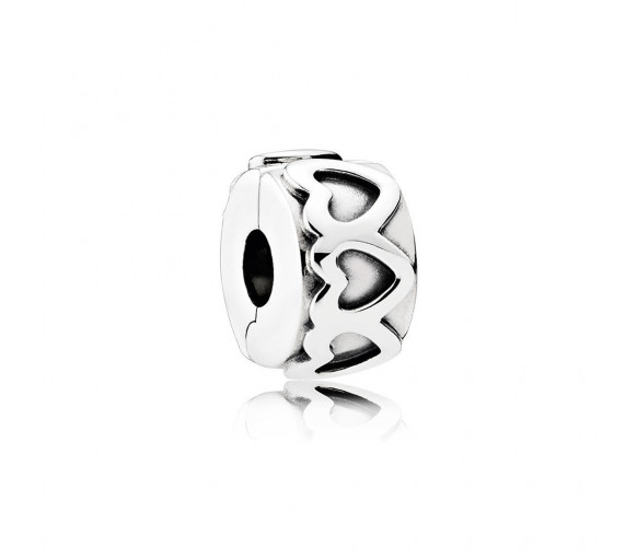 Pandora Gereihte Herzen Charm - 791978