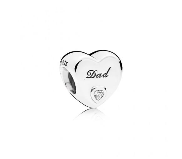 Pandora Dad-Herz Charm - 796458CZ