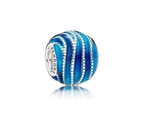 Pandora Blue Swirls Charm - 797012ENMX