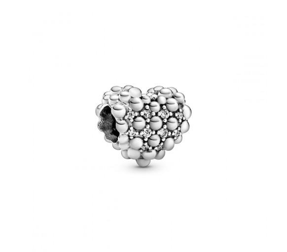 Pandora Beaded Sparkling Heart Charm - 798681C01