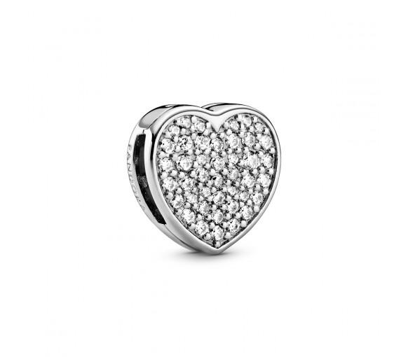 Pandora Reflexions Pavé Heart Clip Charm - 798684C01