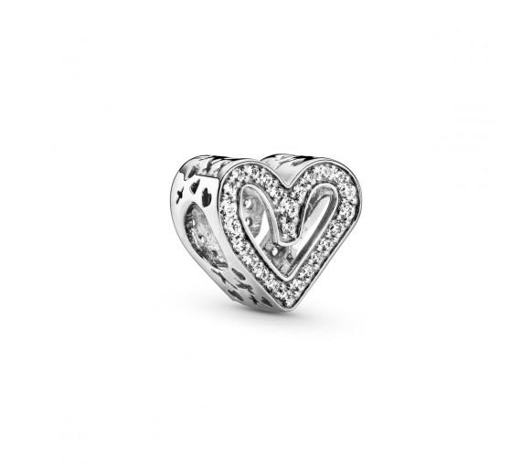 Pandora Sparkling Freehand Heart Charm - 798692C01
