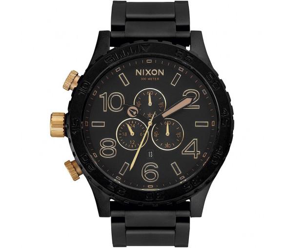 Nixon 51-30 Chrono Matte Black Gold - A083-1041-00