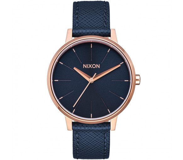 Nixon Kensington Leather Navy Rose Gold - A108-2195-00
