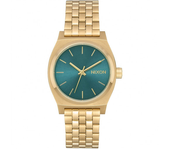 Nixon Medium Time Teller Light Gold Turquoise - A1130-2626-00