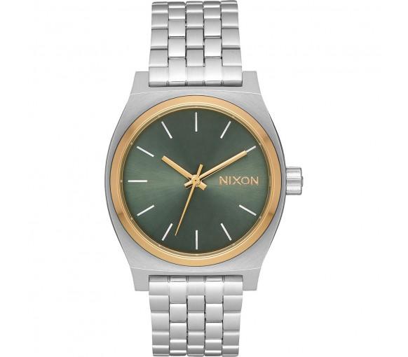 Nixon Medium Time Teller Silver Gold Agave - A1130-2877-00