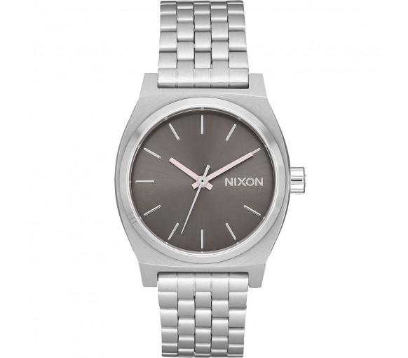 Nixon Medium Time Teller Silver Gray Pale Pink - A1130-3161-00