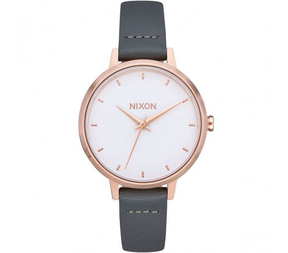Nixon Medium Kensington Leather Rose Gold Gray - A1261-2239-00