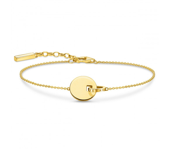Thomas Sabo Armband Together Coin mit Ring Gold - A1934-413-39-L19v