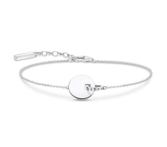 Thomas Sabo Armband Together Coin mit Ring Silber - A1934-637-21-L19v