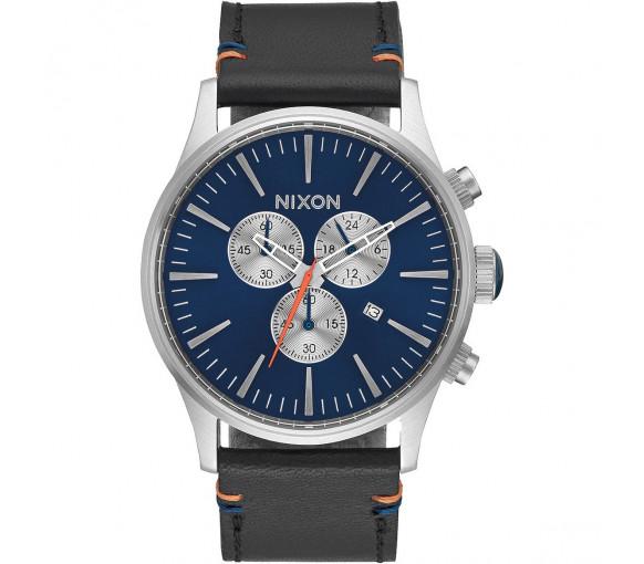 Nixon Sentry Chrono Leather Blue Sunray - A405-1258-00