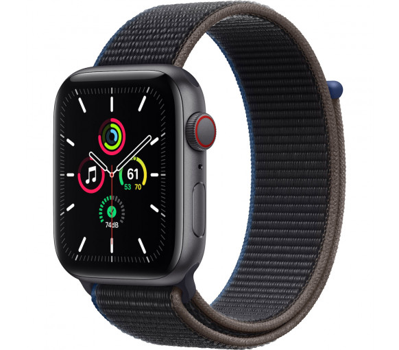 Apple Watch Series SE Cellular Space Grey Charcoal Sport Loop (44 mm) - MYF12FD/A