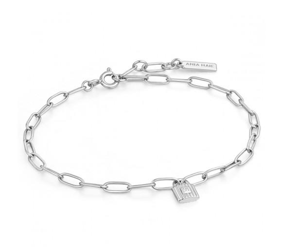 Ania Haie Silver Chunky Padlock Armband - B032-01H