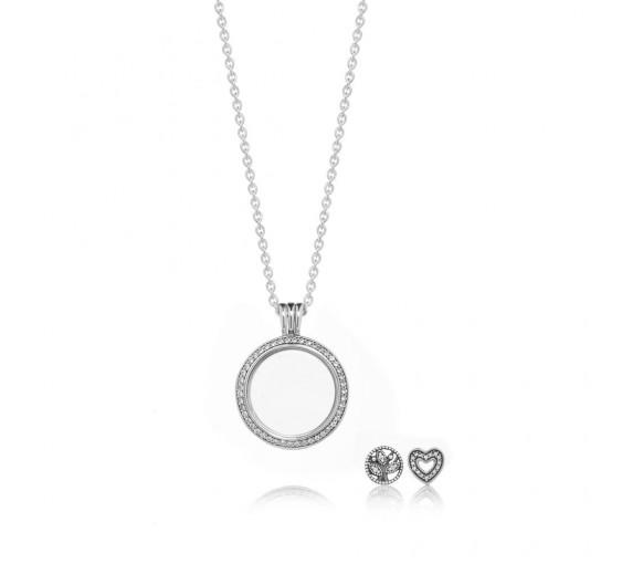 Pandora Sparkling Family Locket Gift Set - B801038
