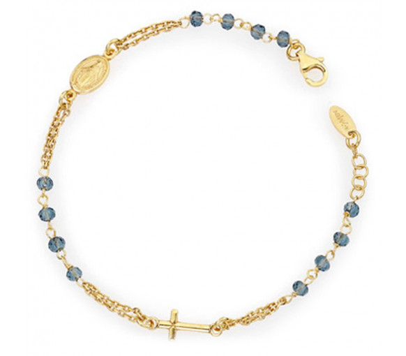 Amen Rosary Crystal Cross Armband - BROGBL3
