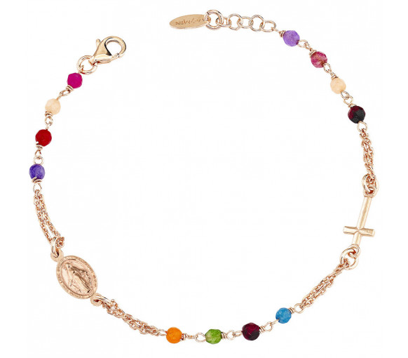 Amen Rosary Crystal Cross Armband - BRORM3P