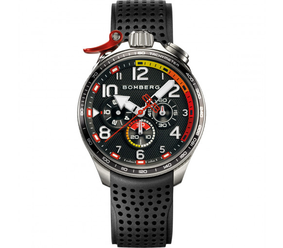 Bomberg Bolt-68 Racing Black & Red - BS45CHSP.059-2.10