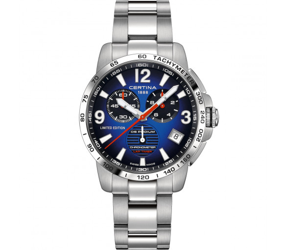 Certina DS Podium Chrono Lap Timer Jeremy Seewer 91 Limited Edition - C034.453.11.047.10