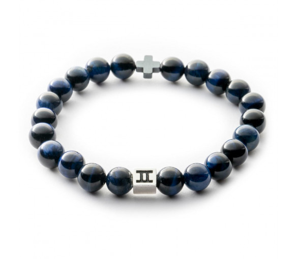 Gemini Classic Tiger Eye Cross Dark Blue - C22
