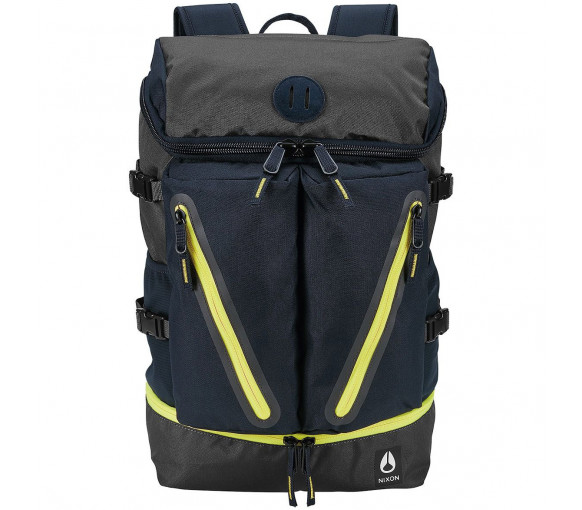 Nixon Scripps Backpack II Black Dark Olive Volt - C2821-3059-00