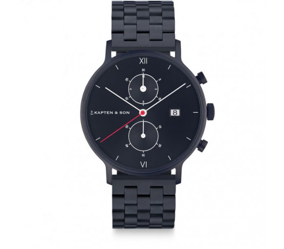 Kapten & Son Chrono Black Midnight Steel (40 mm) - CD07B0833F01A
