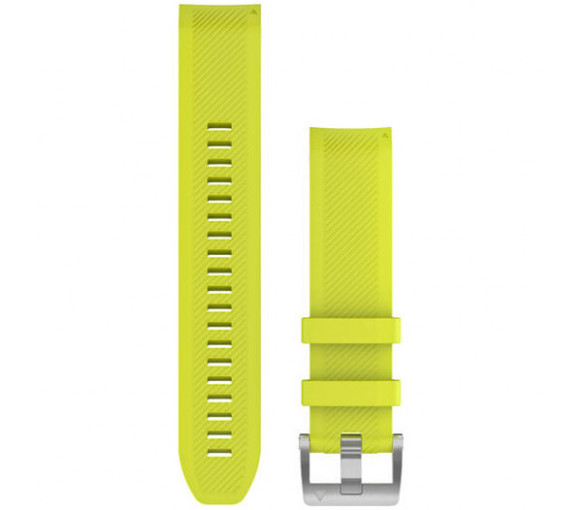 Garmin MARQ QuickFit 22 Amp Yellow Silicone Band - 010-12738-16