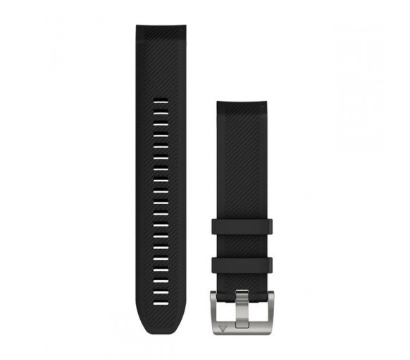 Garmin MARQ QuickFit 22 Black Silicone Band - 010-12738-05