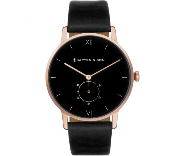 Kapten & Son Heritage Rose Gold All Black - CF00B0199F22A