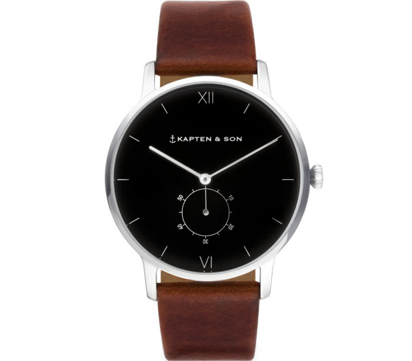 Kapten & Son Heritage Silver Black Brown Leather - CF03B0103F22A