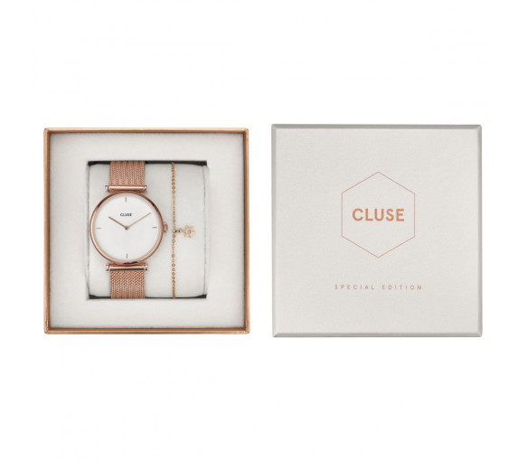 Cluse Triomphe Mesh Rosé Gift Box - CG0108208001