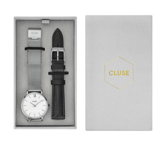 Cluse Minuit Mesh Silver Gift Box - CG1519203003