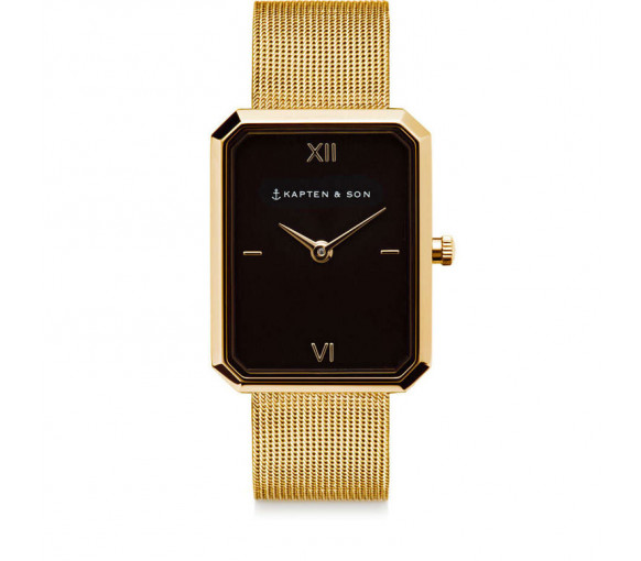 Kapten & Son Grace Gold Black Mesh - CH09B0740H03A