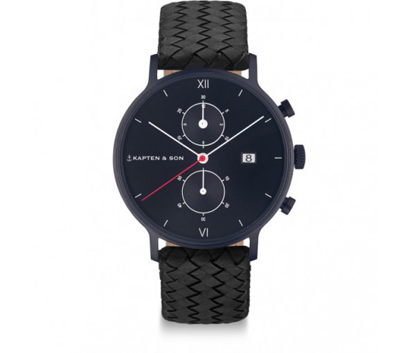 Kapten & Son Chrono Black Midnight Woven - CD07B1099F01A