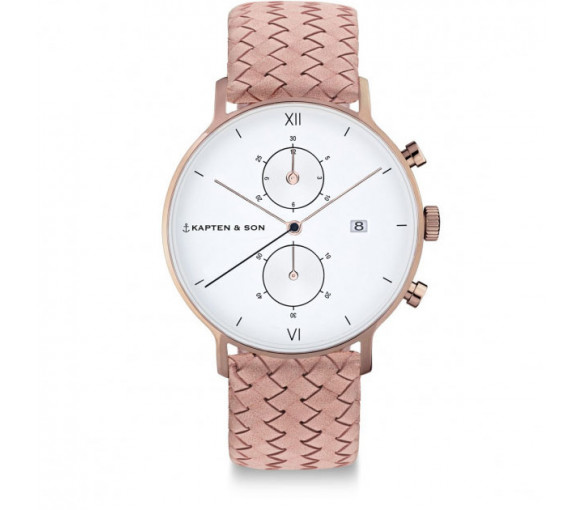 Kapten & Son Chrono Rose Woven Leather