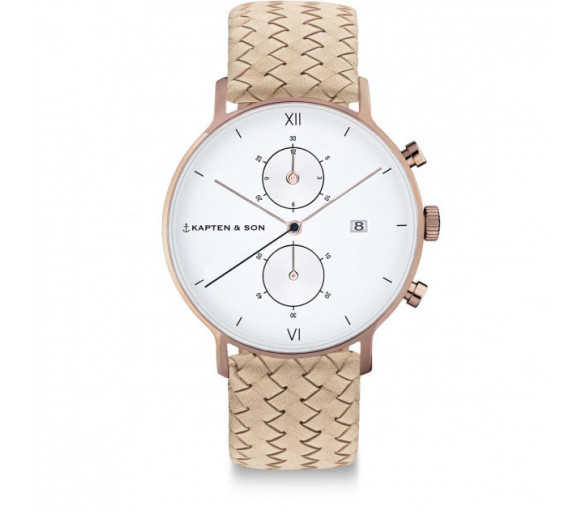 Kapten & Son Chrono Sand Woven Leather