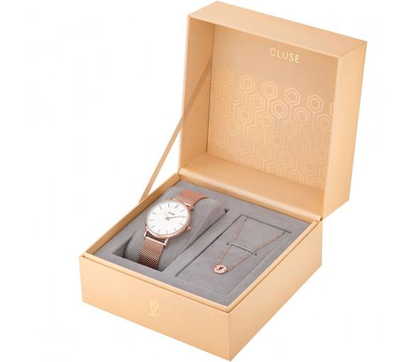 Cluse Minuit Heart Rosé Mesh Gift Box - CLG013