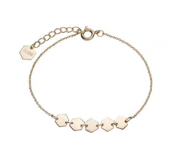 Cluse Essentielle Gold Hexagons Chain Bracelet - CLJ11007