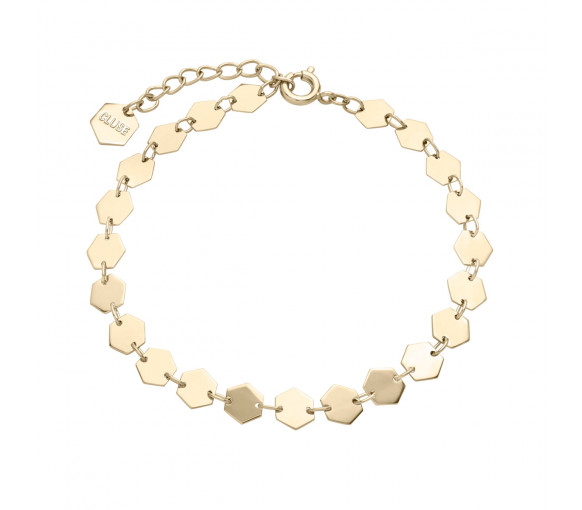 Cluse Essentielle Gold All Hexagons Chain Bracelet - CLJ11009