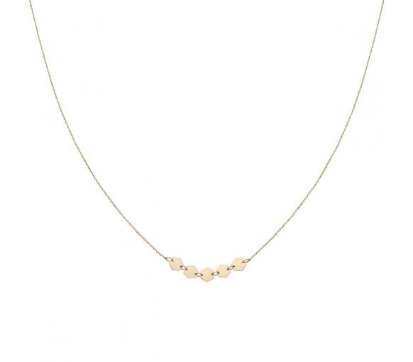 Cluse Essentielle Gold Hexagons Necklace - CLJ21001