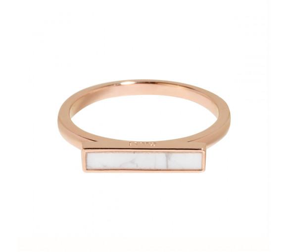 Cluse Idylle Rose Gold Marble Bar Ring - CLJ40002