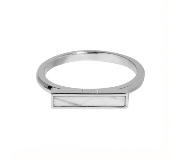Cluse Idylle Silver Marble Bar Ring - CLJ42002