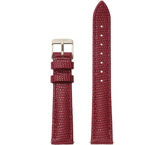 Cluse Minuit Strap Deep Red Lizard/Gold 16 mm - CLS382