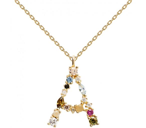 P D Paola Letters A Necklace Halskette - CO01-096-U