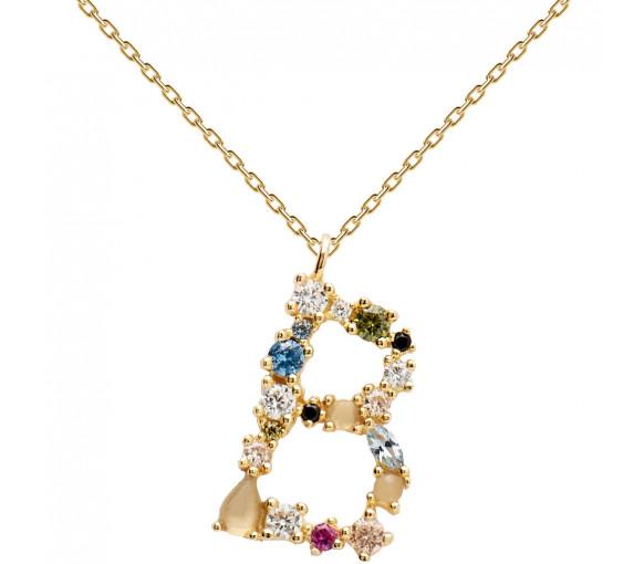 P D Paola Letters B Necklace Halskette - CO01-097-U
