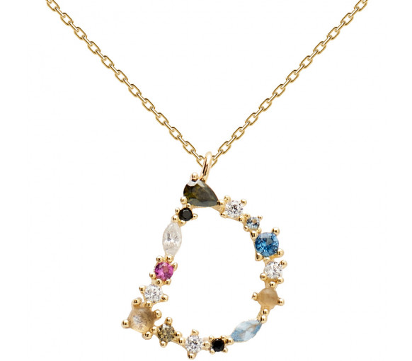 P D Paola Letters D Necklace Halskette - CO01-099-U