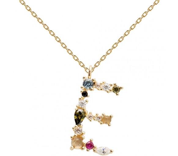 P D Paola Letters E Necklace Halskette - CO01-100-U